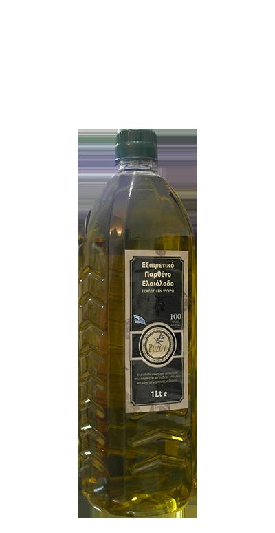 Rozos Oil Παρθένο Ελαιόλαδο Μπουκάλι 1lt