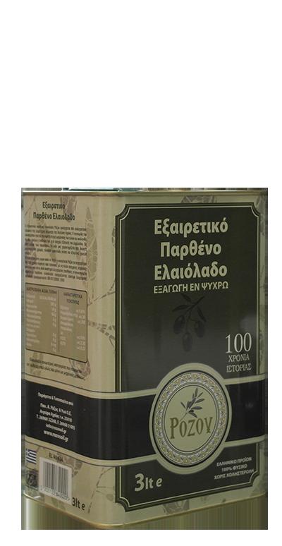Rozos Oil Παρθένο Ελαιόλαδο 3lt