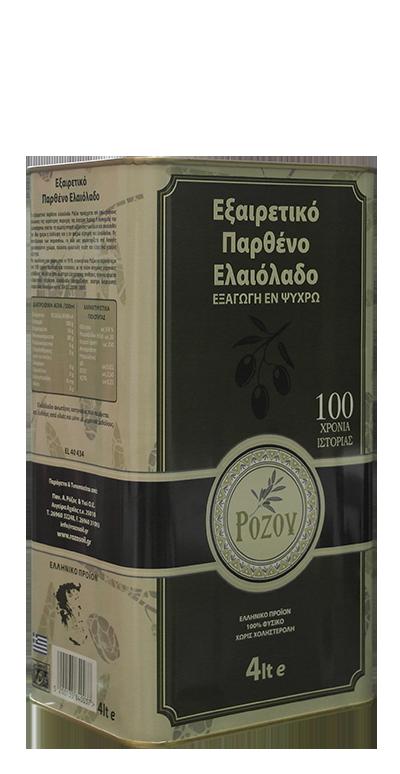 Rozos Oil Παρθένο Ελαιόλαδο 4lt