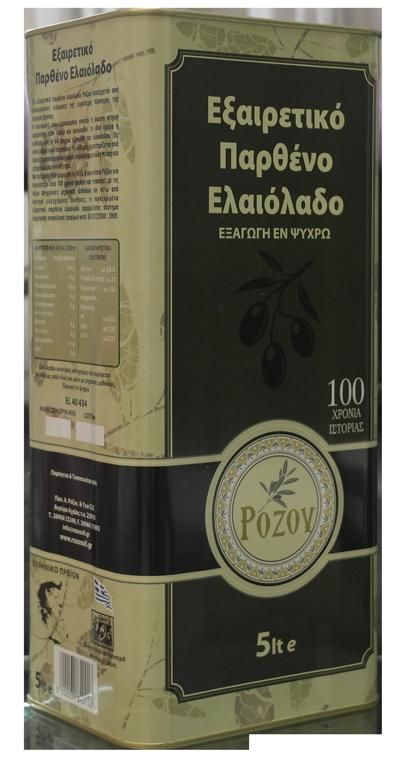 Rozos Oil Παρθένο Ελαιόλαδο 5lt